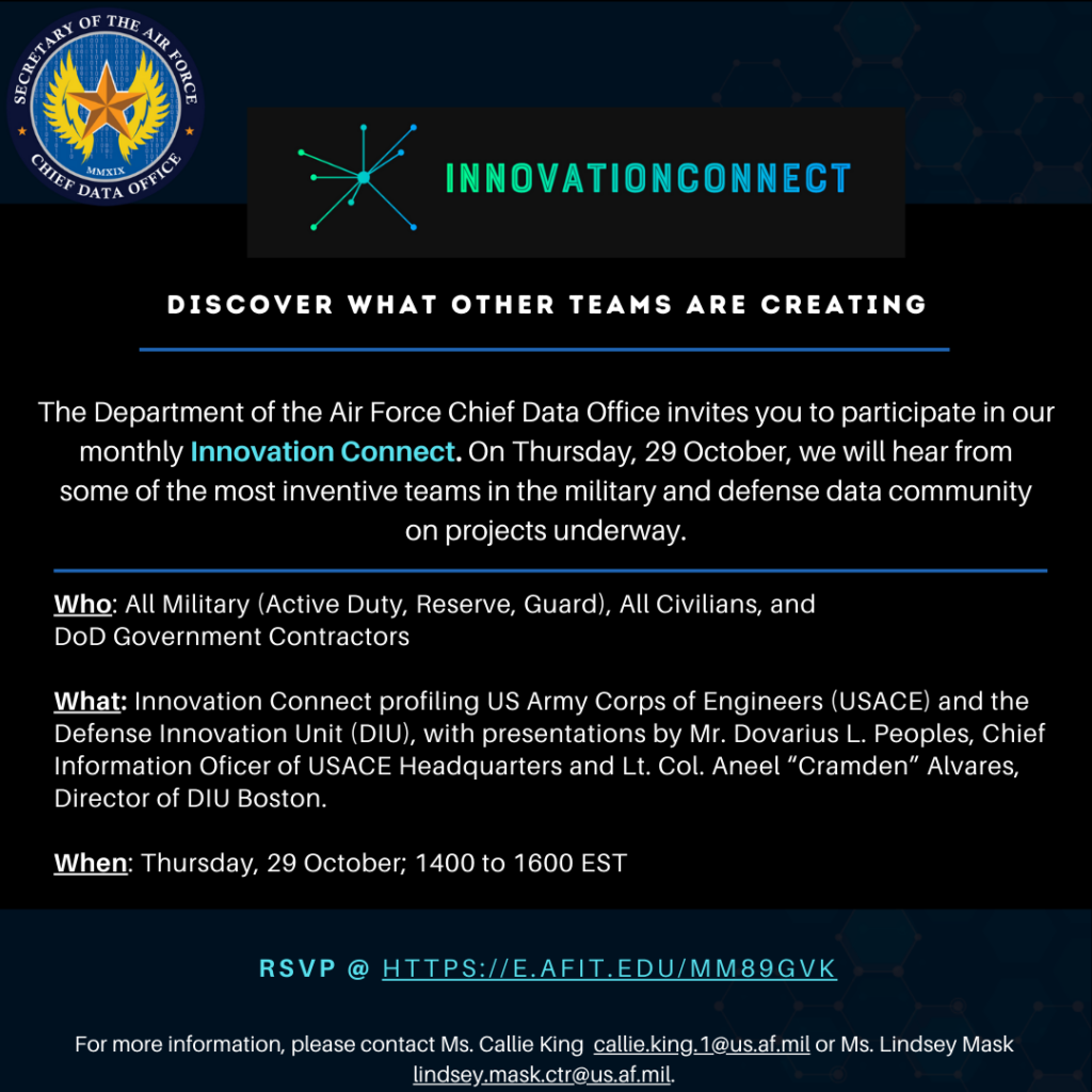 Flyer detailing the Innovation Connect Event