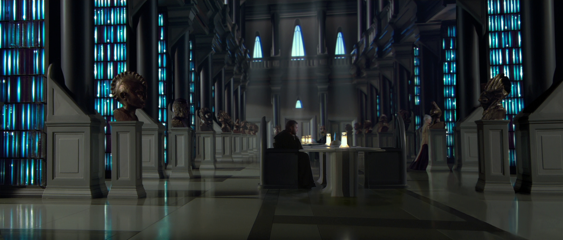 Futuristic library as seen in Star Wars